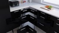 Corner Drawer Example - High Gloss Black