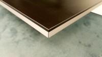Standard Laminate Bench top Black w Aluminium Edging - in Kitchen