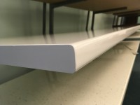 Bianco Lucido Standard Bench top Corner for Kitchen