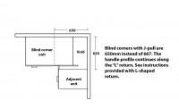 j-pull Blind Corner Cabinet Information S115N