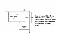 j-pull Blind Corner Cabinet Information