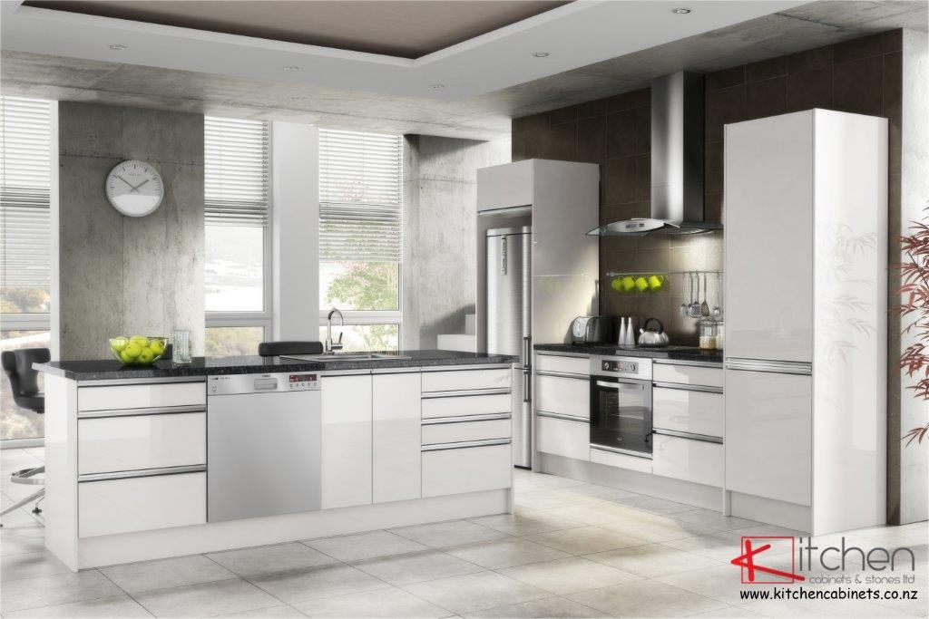 Euro Zobal Kitset Kitchen with Recessed Handles with Logo