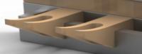 Additional Glass Hooks for Glass Rack Modular Shelf Section -