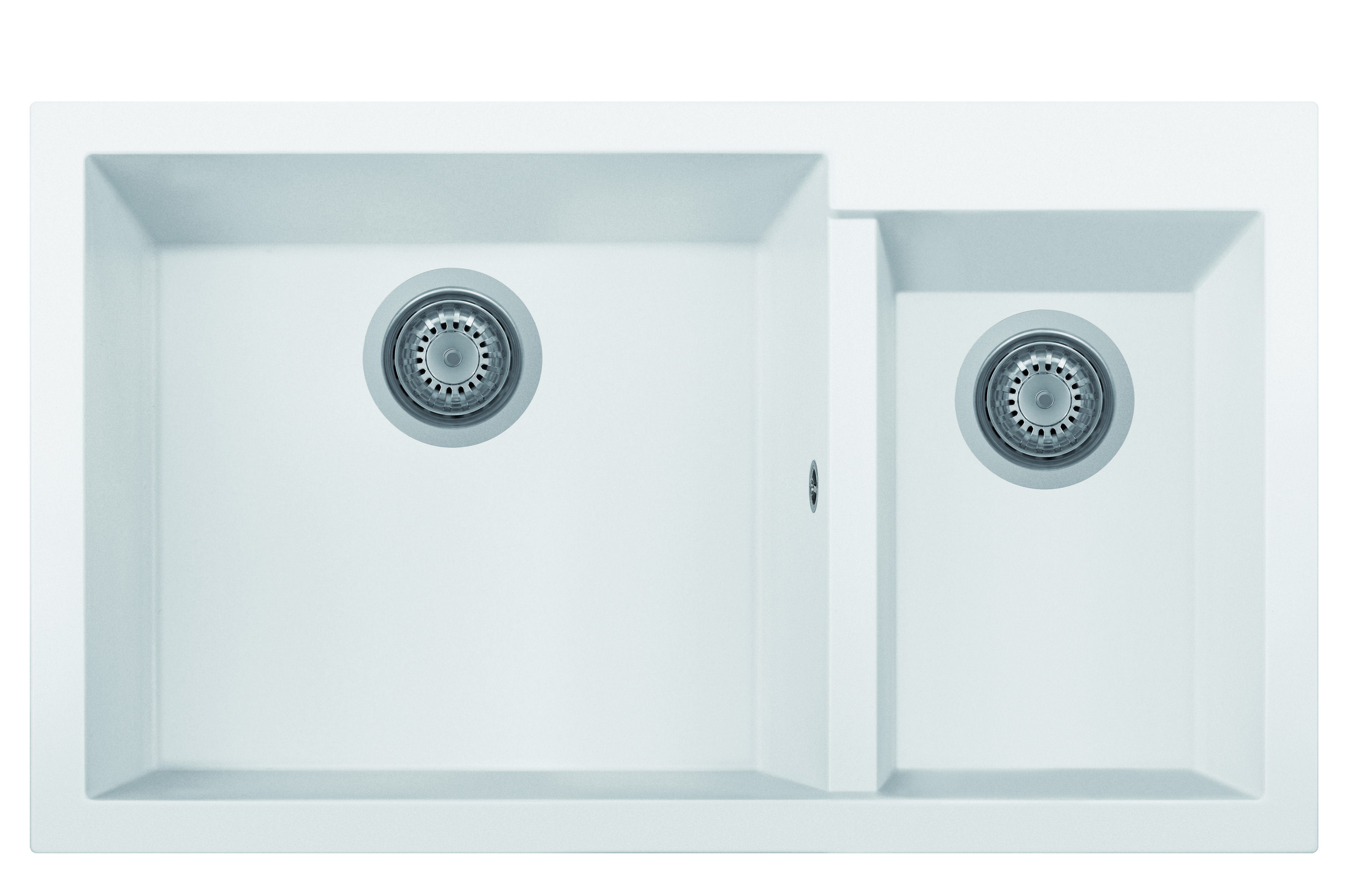 Cube 1.5 Bowl White Matte Sink w/o Drainer ON8620_28