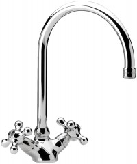 EPSILON - One hole sink mixer with swivelling spout - Chrome