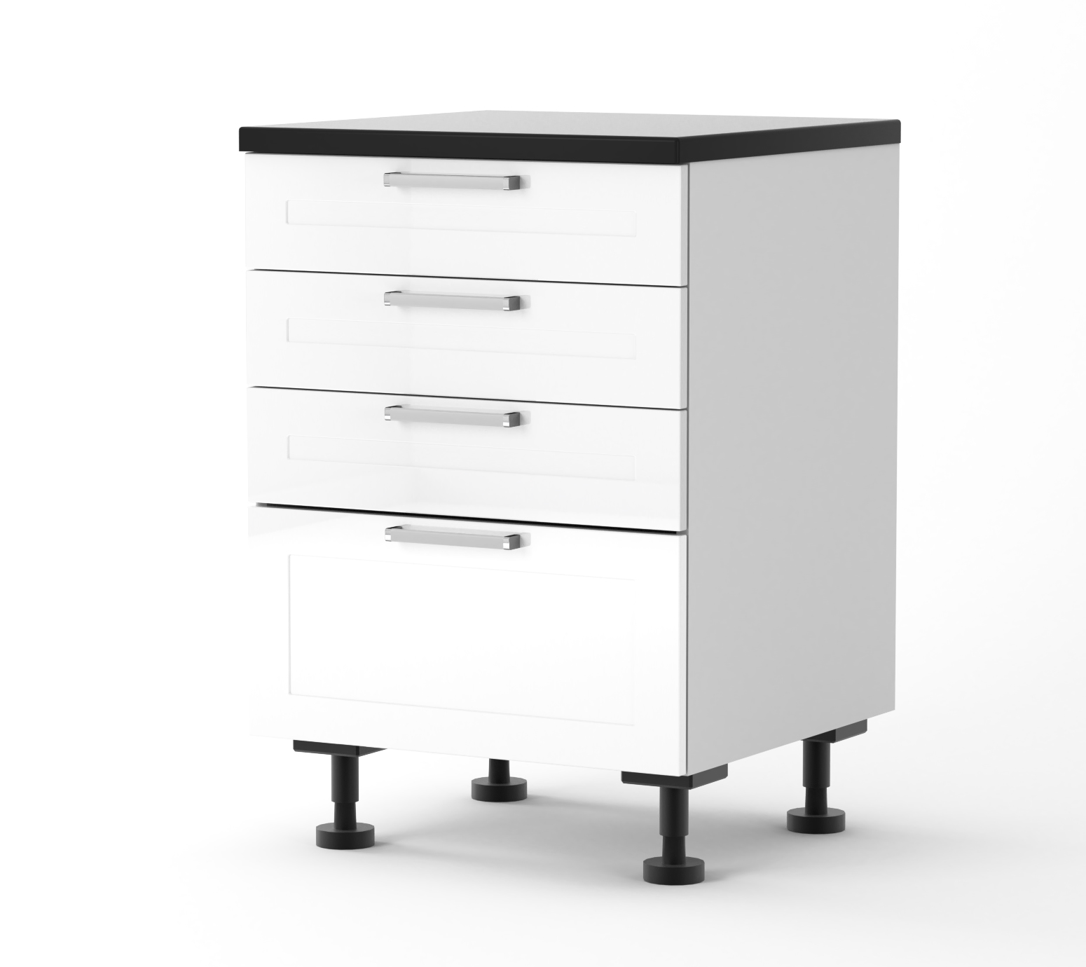 Rhodes - 600mm wide Four Drawer Base Cabinet -