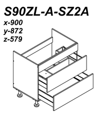 S90SZL-A-SZ2A Outline Image for Kitchen Planning