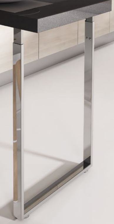 Breakfast Bar Square Support Legs for in Kitchen - Example Image