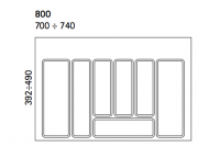 Dimensions Image for Cutlery Tray 800mm Wide for in Drawers