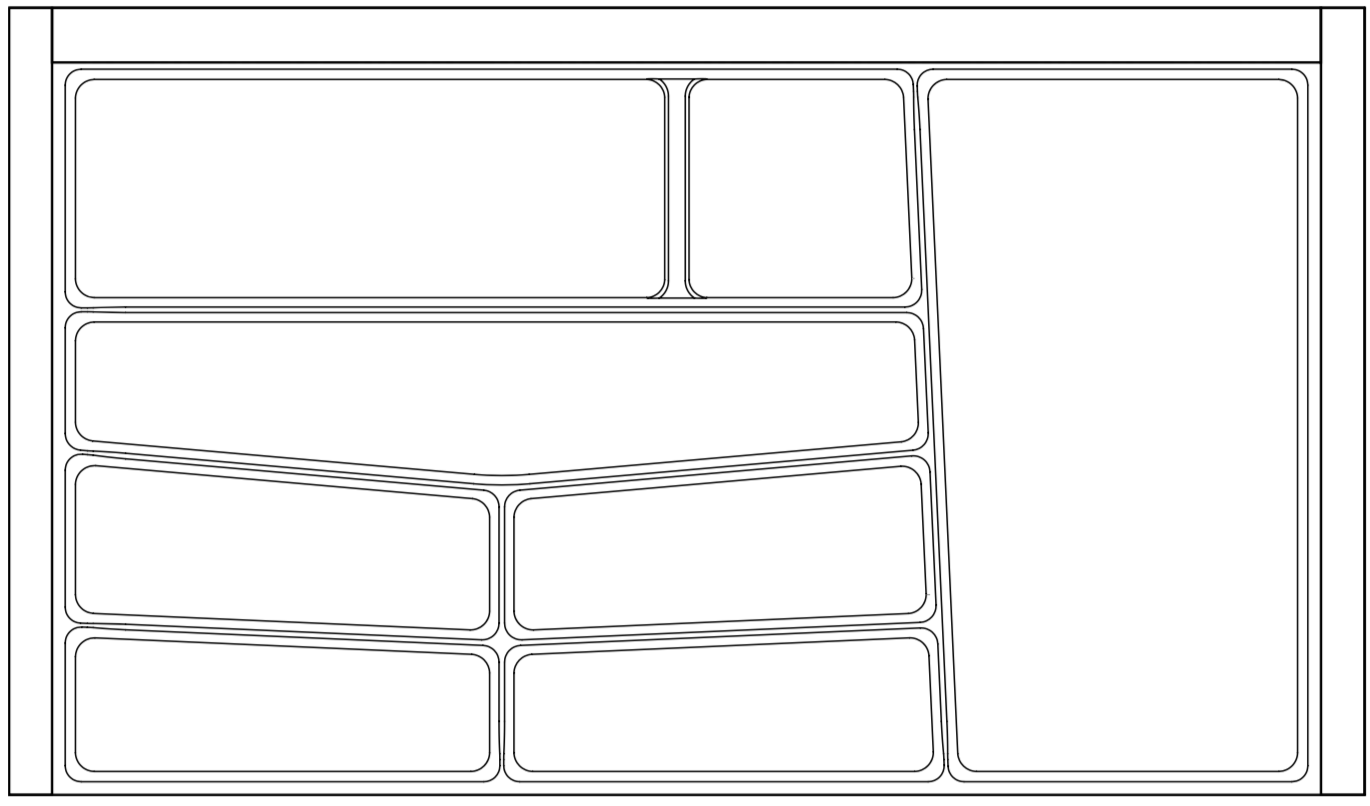 Premium Grey Cutlery Tray 900mm wide for Kitchen