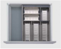 500mm Stainless Steel Modular Cutlery Insert for Kitchen Drawers