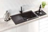 Rhapsodia 1 Bowl Sink with Draining Board Example for kitchen