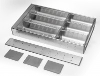 Stainless Steel Cutlery Insert for 450mm wide Drawer - Partly