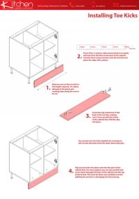 Kitchen DIY toe-kicks user manual
