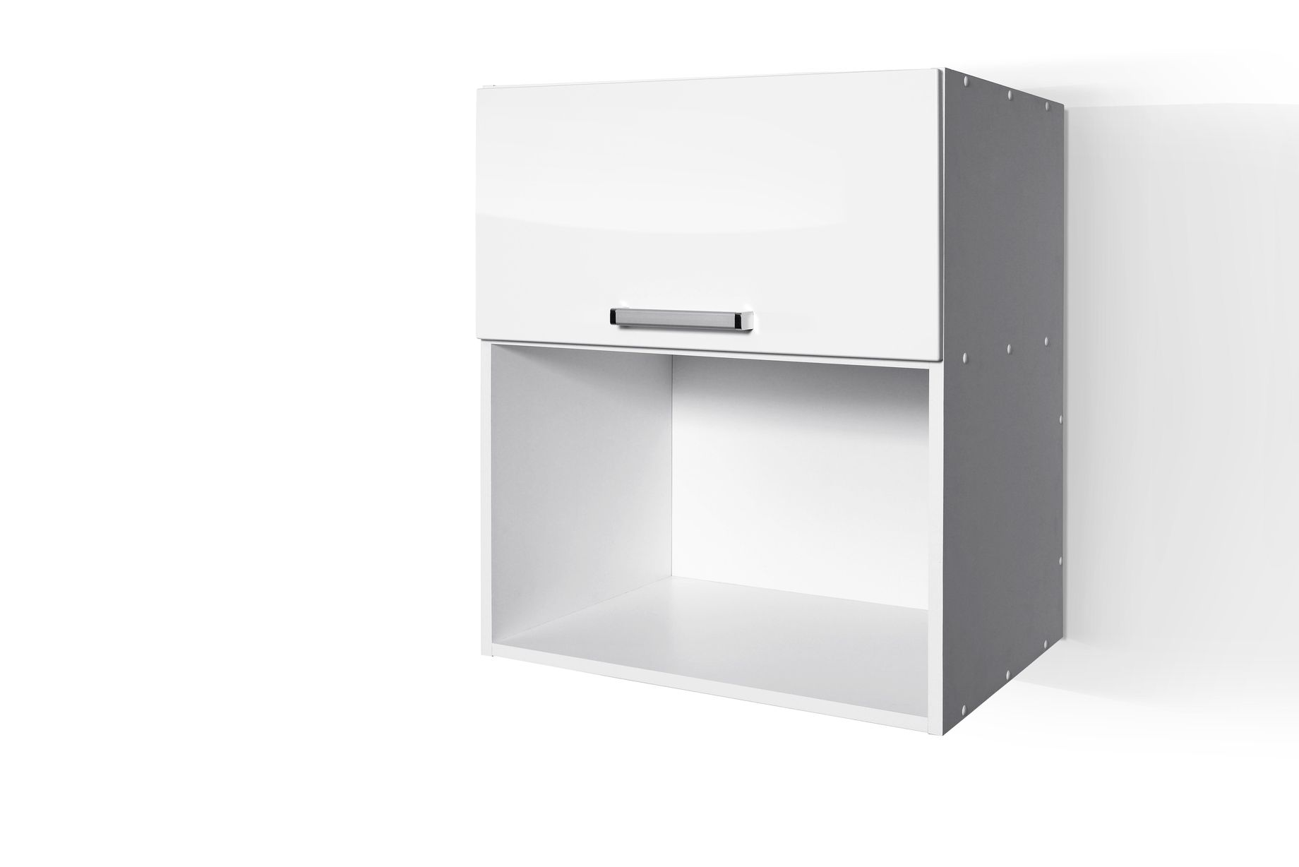 High Gloss White Wall microwave cabinet W601KMI for Kitchen