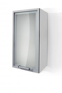 Silver Door Wall Cabinet W30SA