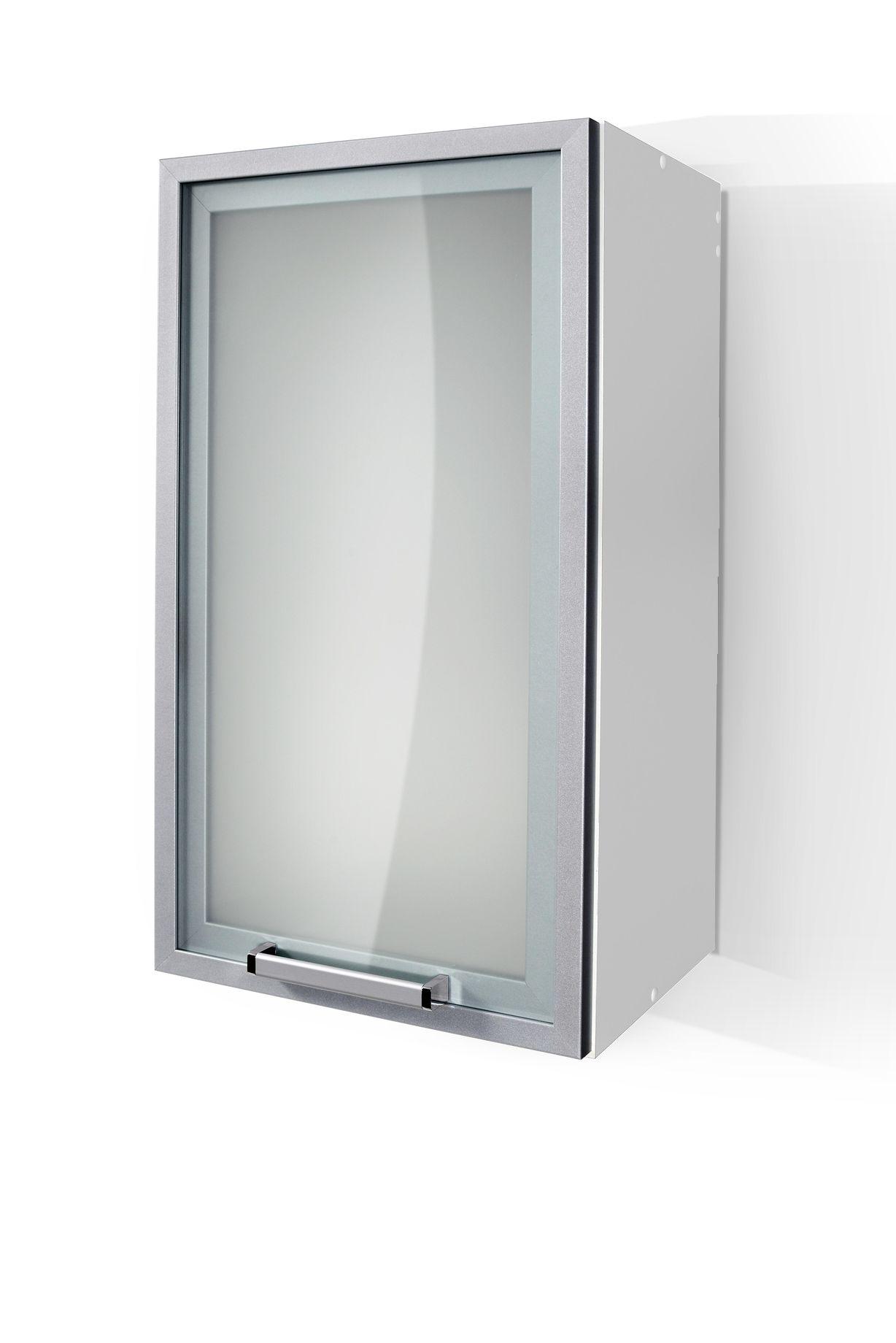 Silver Door Wall Cabinet W40SA
