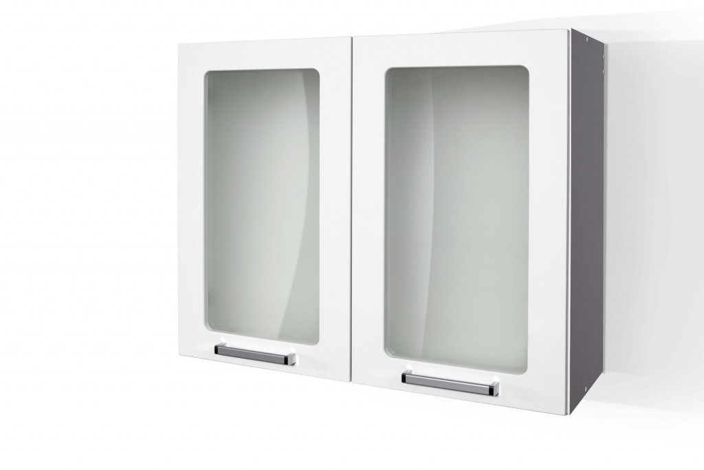 High Gloss White Wall cabinet for Kitchen