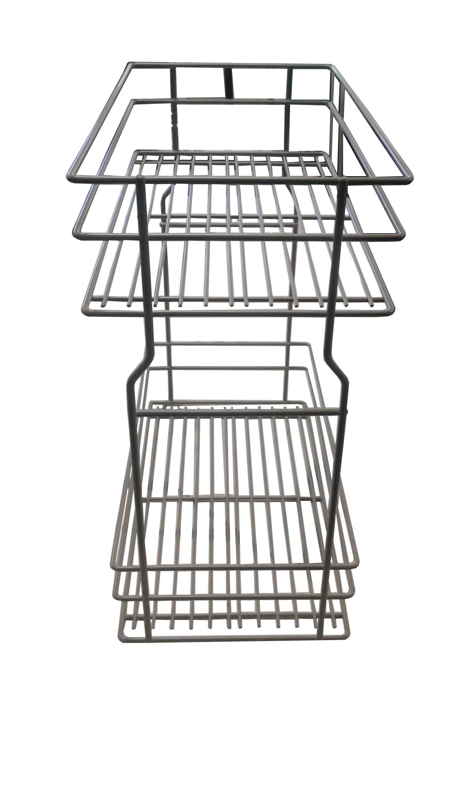 WE29.0005.01.549 Pull-Out Baskets Grey Lacquer Finish