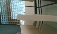 White Half Bullnose Standard Bench top Corner View