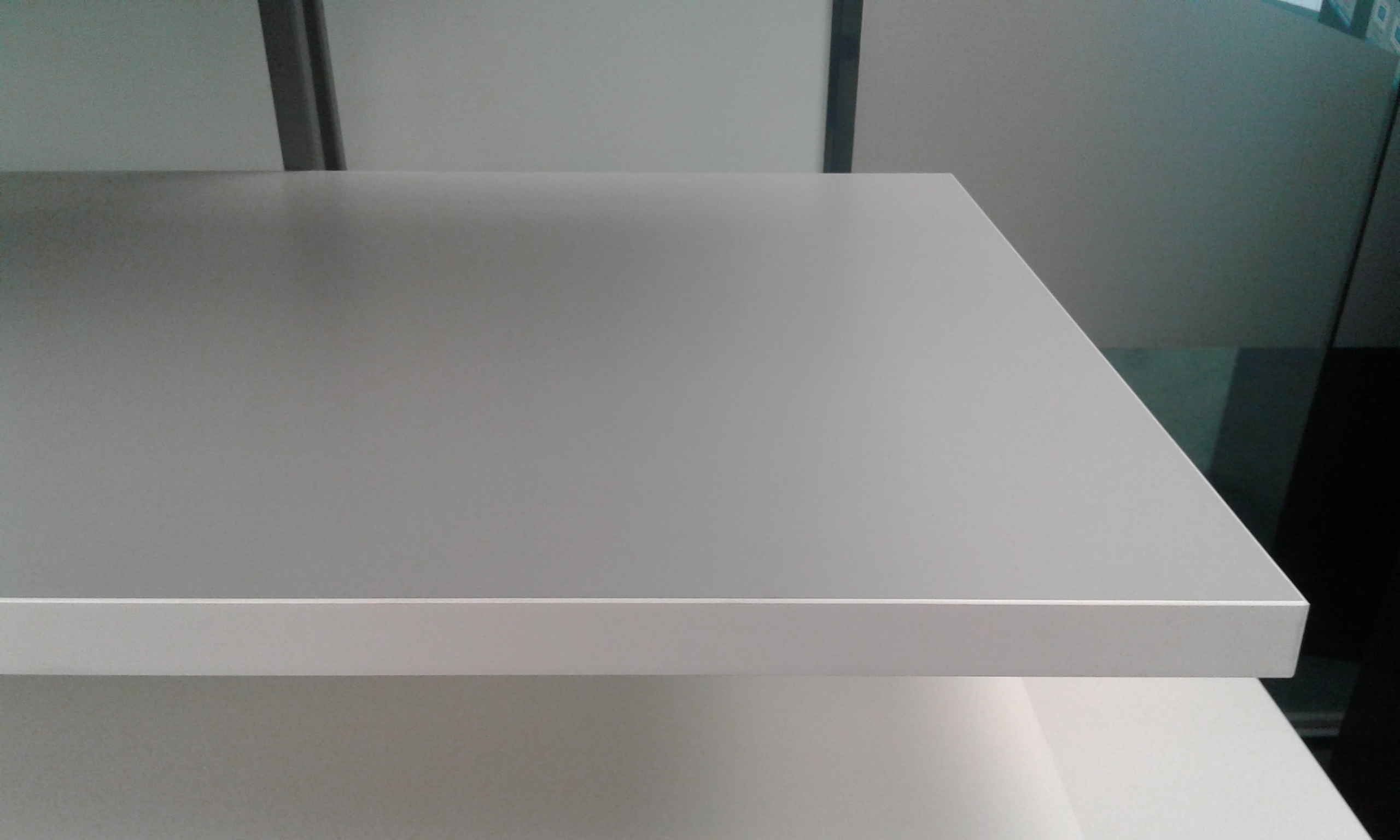 White or Grey with White Edging Standard Bench top Grey Front Vie
