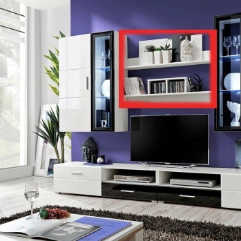 European Made Wall Shelving WU-2600-NR10 for Living Room