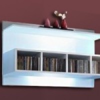 European Made Wall Shelf Unit WU 2810 for Lounge/Living room
