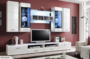 European made Entertainment Unit - WU 2810 (White) for Livi