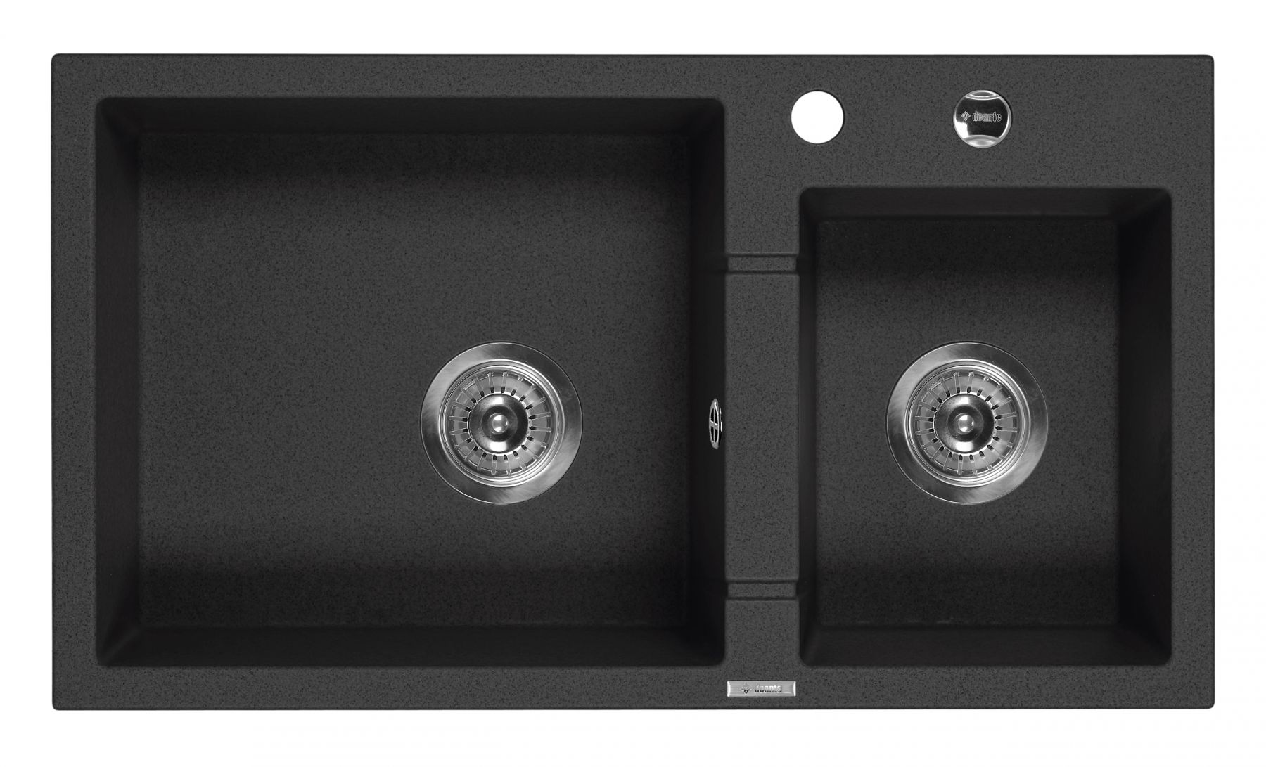 Piva 2-bowl Granite Sink without Draining Board for Kitchen