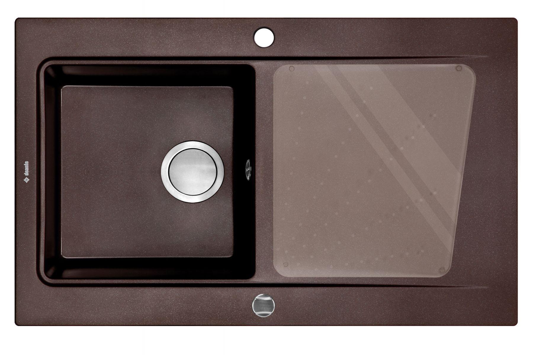 Modern 1 Bowl Brown Metallic Granite Sink for Kitchen