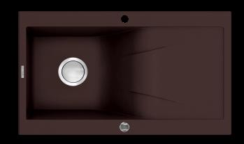 Rhapsodia 1 Bowl Granite Sink with Draining Board for Kitchen