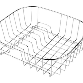 Metal Draining Basket with Plate Stack Space for in the Kitchen
