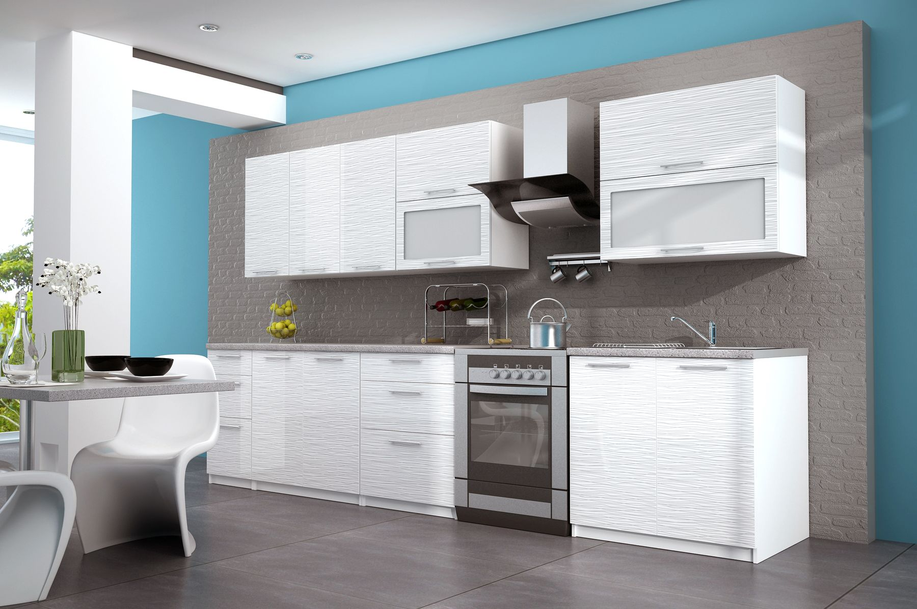 EURO-kitchen-high-gloss-white-with-sile-strips